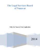 Policy for Nunavut Private Panel – July 17 2014