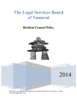 Resident Counsel Policy – September 2014