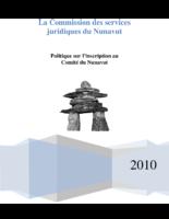 Politique sur l'inscription au Comité du Nunavut